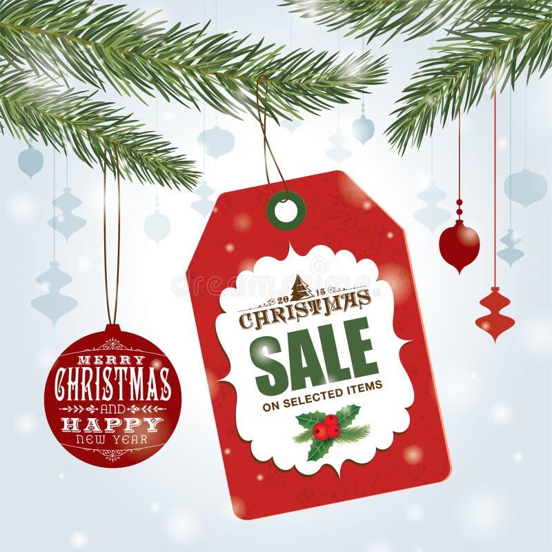Weihnachtsverkaufsplakat lizenzfreie abbildung
