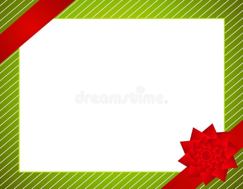 Weihnachtsverpackung und Bogen-Rand vektor abbildung