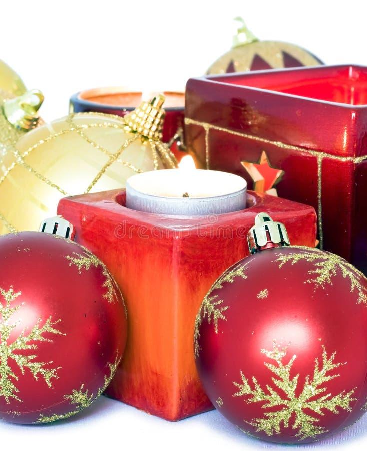 Weihnachtsverzierung stockbild