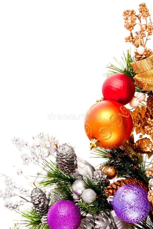 Weihnachtsverzierung-Ecken-Dekoration-Serie stockbild