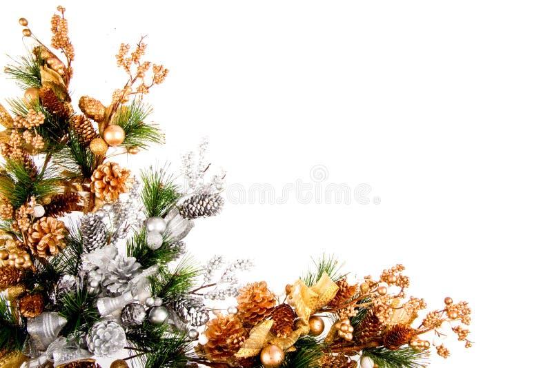 Weihnachtsverzierung-Ecken-Dekoration-Serie stockfotos