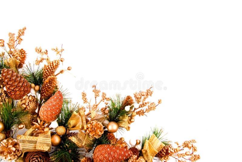 Weihnachtsverzierung-Ecken-Dekoration-Serie stockfotografie