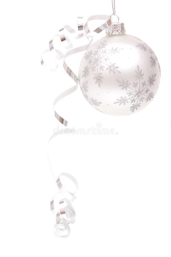 Weihnachtsverzierung mit Farbband stockfoto