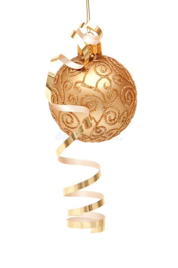 Weihnachtsverzierung mit Farbband lizenzfreies stockfoto