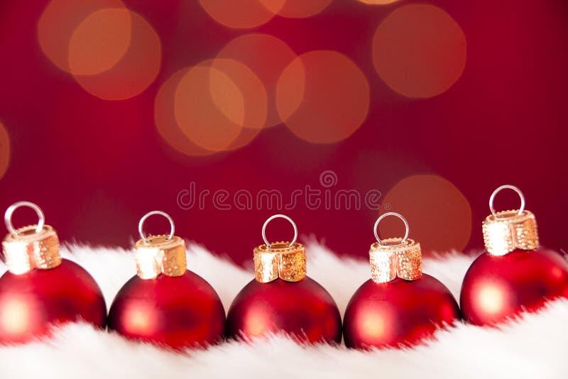 Weihnachtsverzierungen stockfotografie