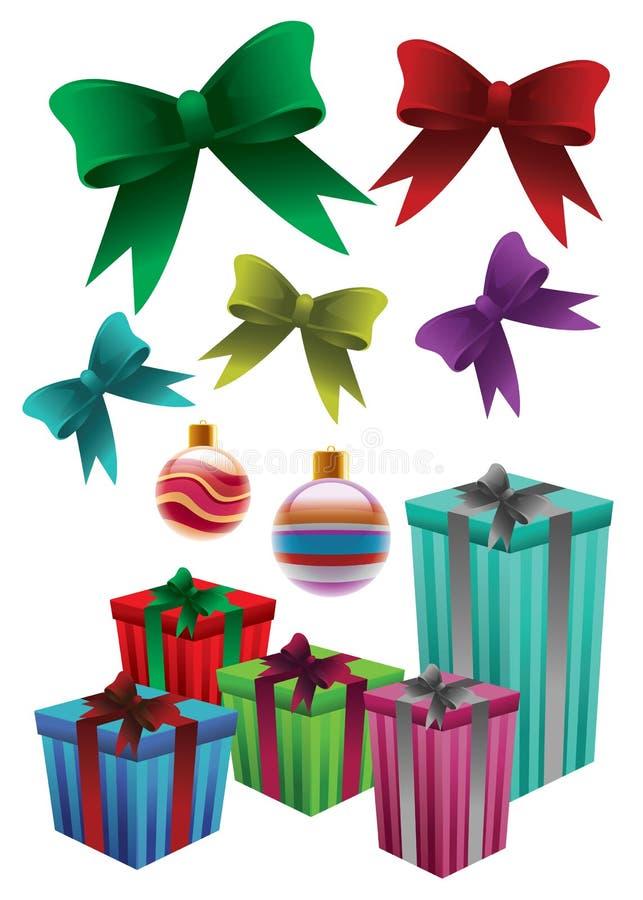 Weihnachtsverzierungen vektor abbildung