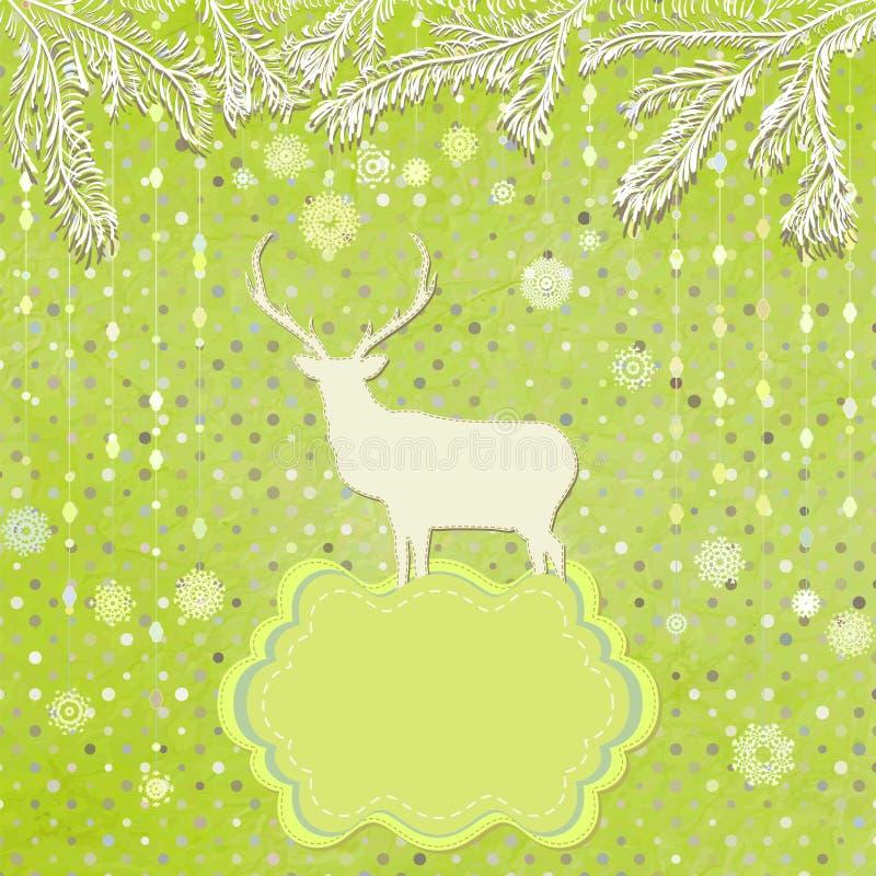Weihnachtsverzierungen gemacht von den Schneeflocken. ENV 8 vektor abbildung