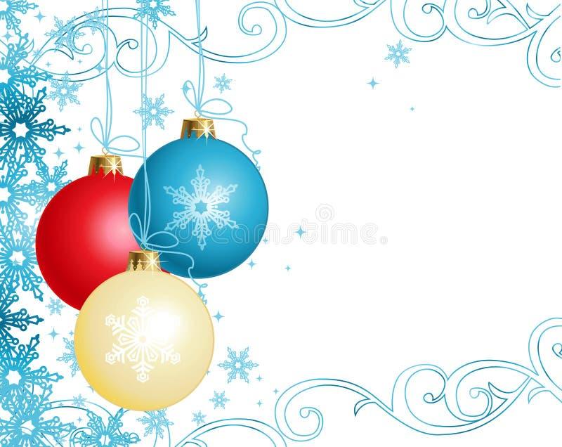 Weihnachtsverzierungen/Vektor lizenzfreie abbildung