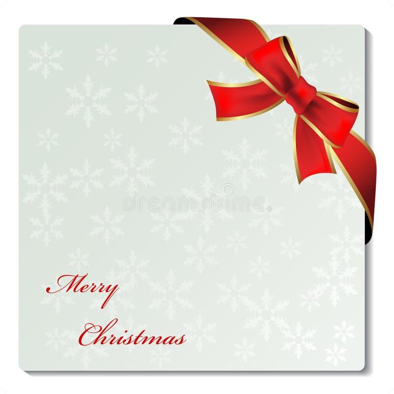Weihnachtsverzierungkennsatz mit Farbband lizenzfreie abbildung