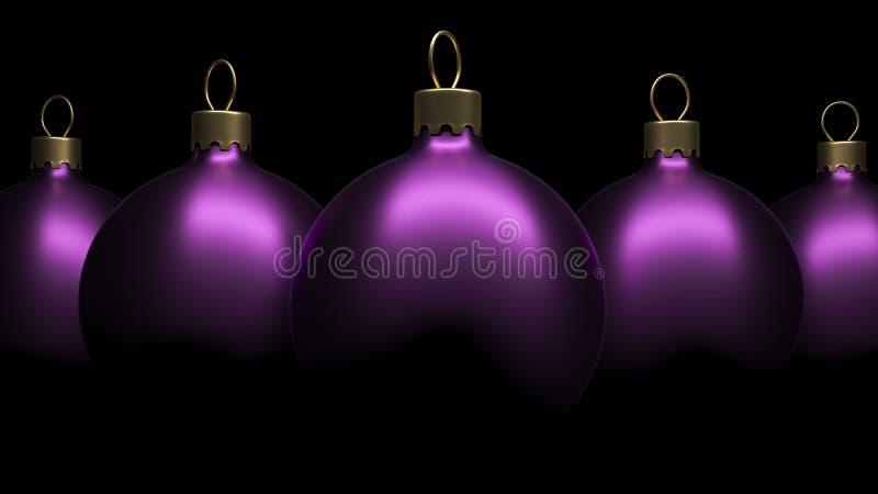 Weihnachtsverzierungsbälle stock abbildung