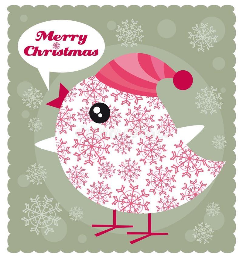 Weihnachtsvogel lizenzfreie abbildung