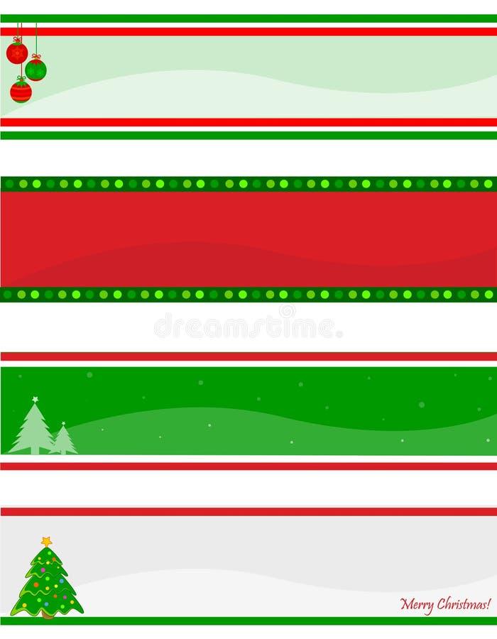 Weihnachtsvorsatz/-fahne vektor abbildung