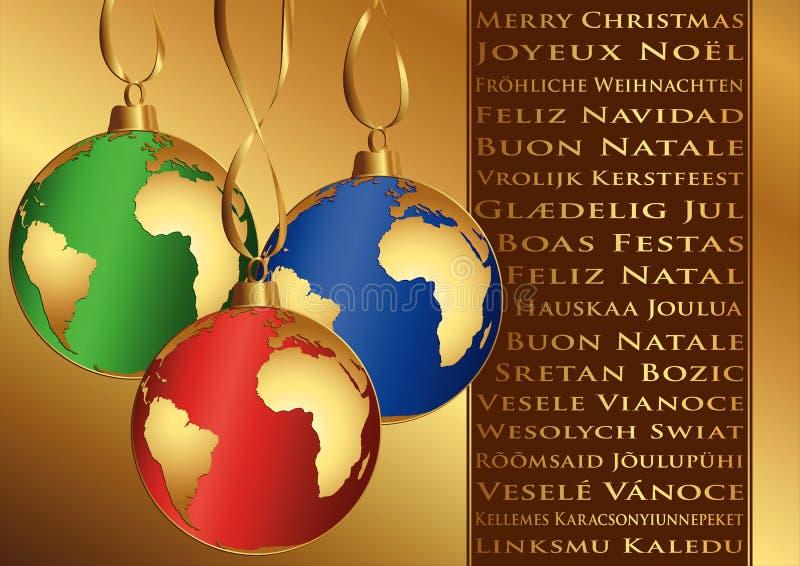 weihnachtsw nsche in den verschiedenen sprachen vektor abbildung illustration von
