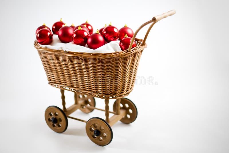 Weihnachtswagen mit Flitter stockfotos