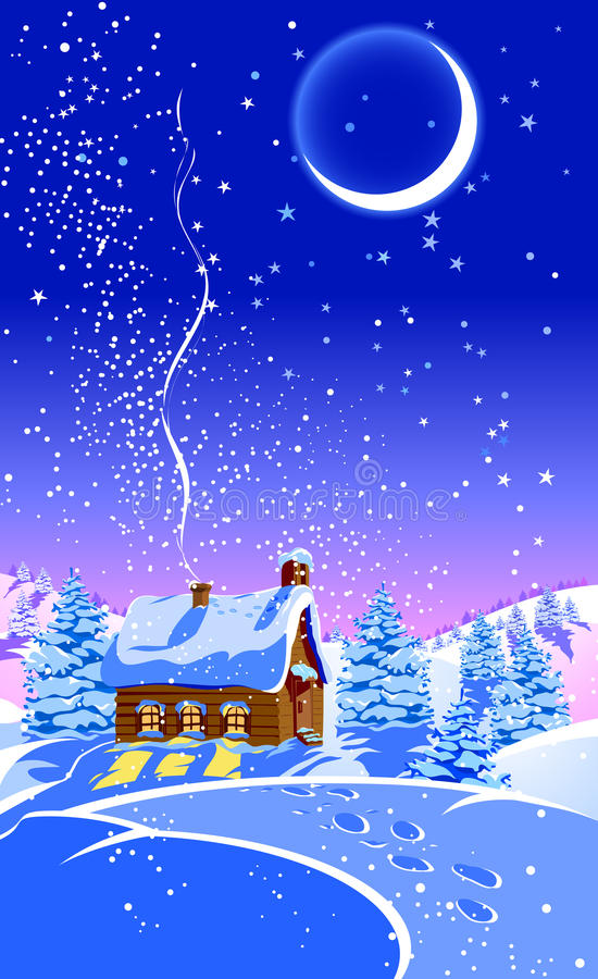 Weihnachtswald stock abbildung
