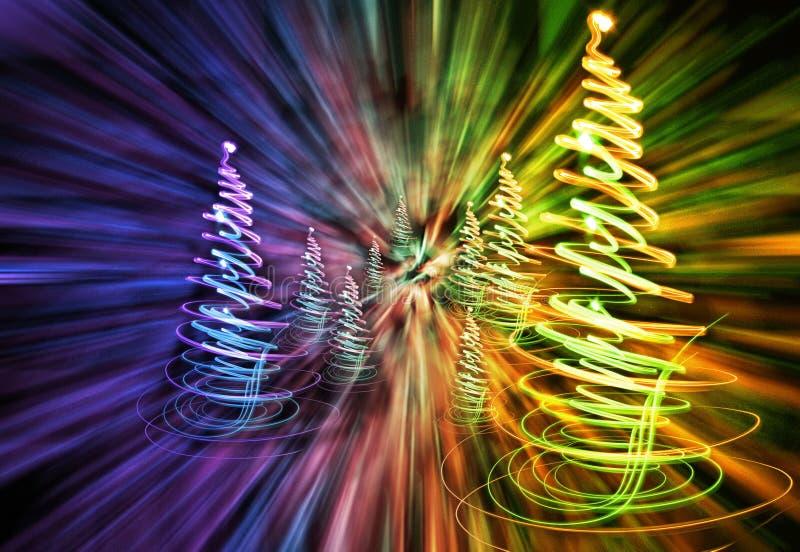 Weihnachtswald von den Lichtern vektor abbildung
