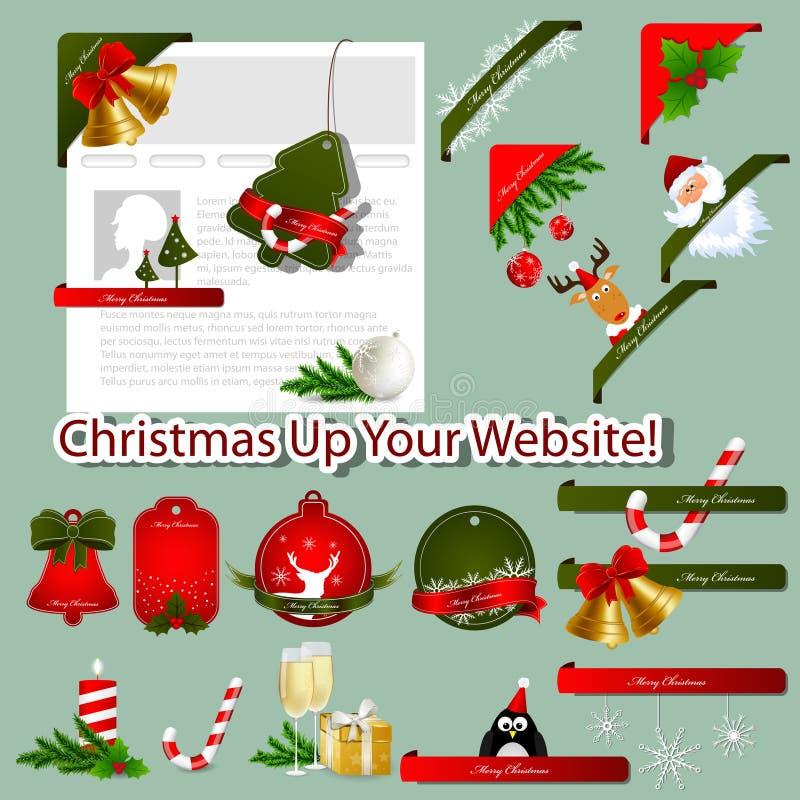 Weihnachtsweb-Elemente stock abbildung