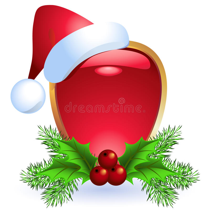 Weihnachtsweb-Taste lizenzfreie abbildung