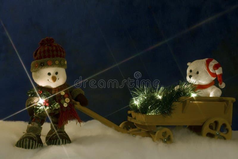 Weihnachtsweg lizenzfreie stockfotos