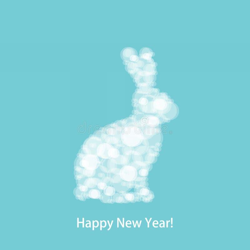 Weihnachtsweiß-Kaninchen lizenzfreie abbildung