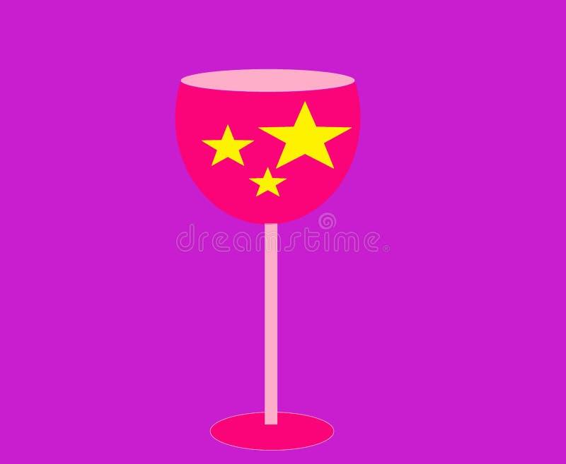 Weihnachtsweinglas mit Sternen lizenzfreies stockbild