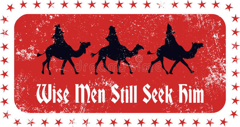 Weihnachtsweise-Stempel stock abbildung