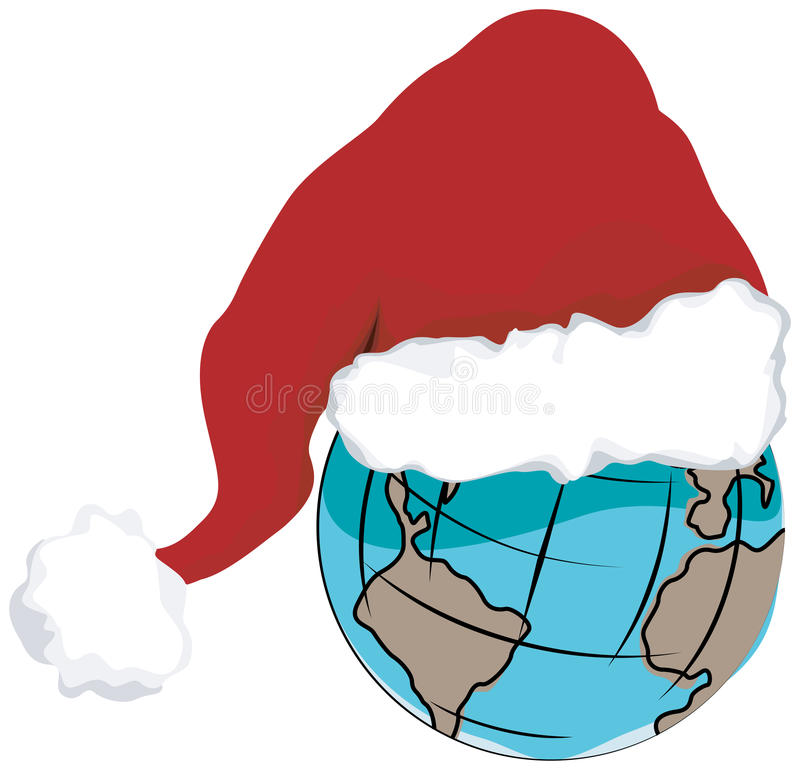 Weihnachtswelt stock abbildung