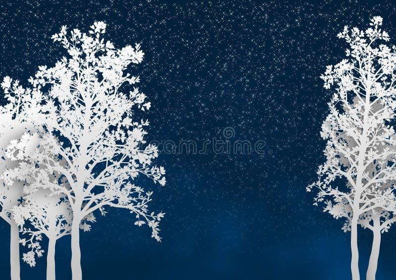 Weihnachtswinter-Bäume lizenzfreie abbildung