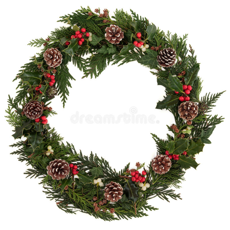 WeihnachtsWreath lizenzfreie stockbilder