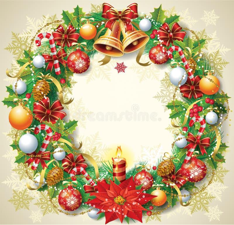 Weihnachtswreath lizenzfreie abbildung