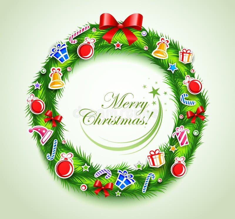 Weihnachtswreath mit Geschenken vektor abbildung
