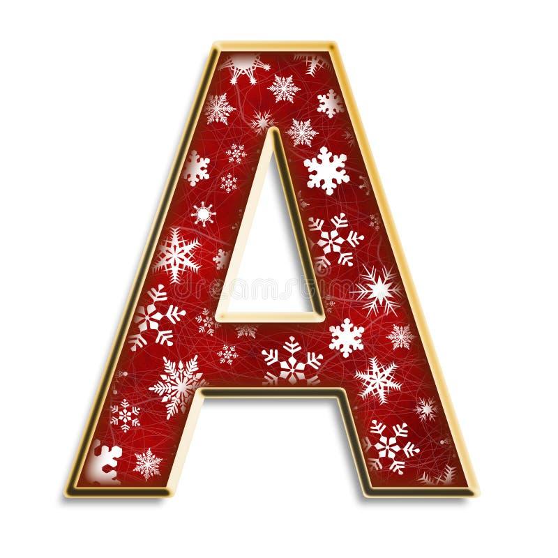 Weihnachtszeichen A im Rot stock abbildung