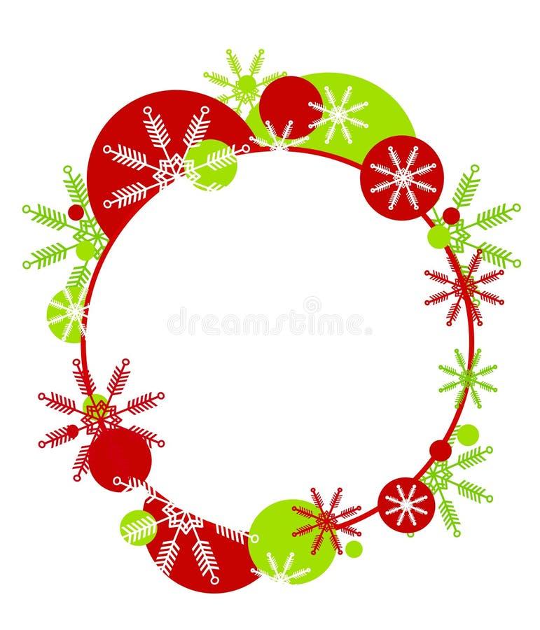 Weihnachtszeichen oder Kennsatz-Kreis lizenzfreie abbildung