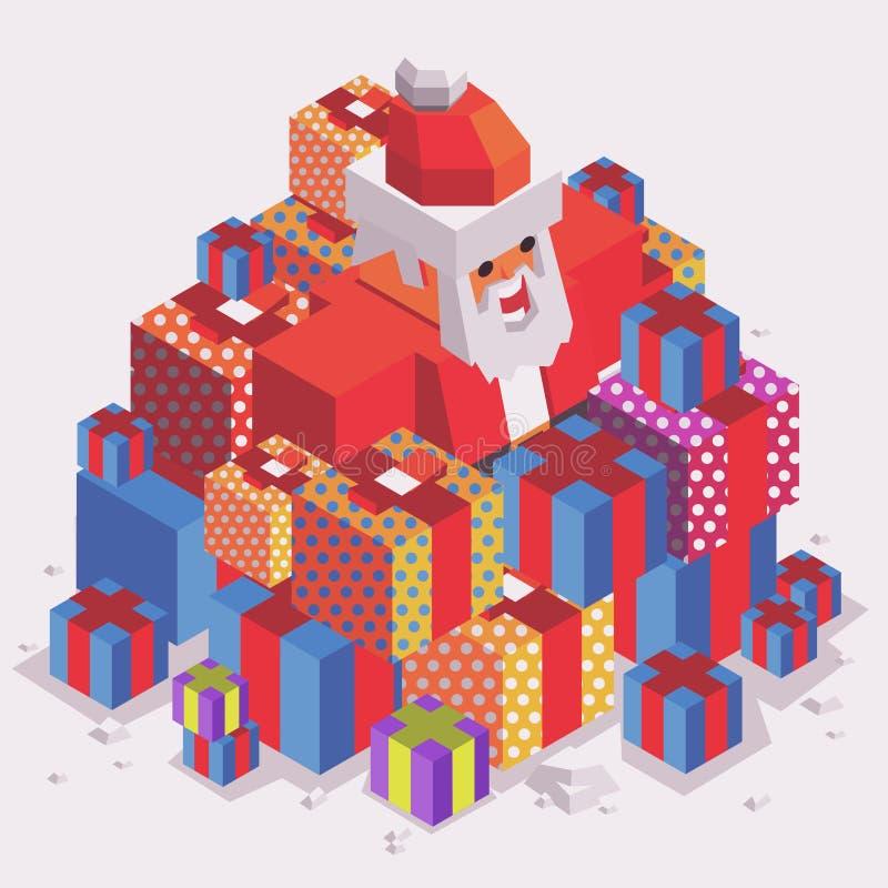 Weihnachtszeit mit Sankt lizenzfreie abbildung