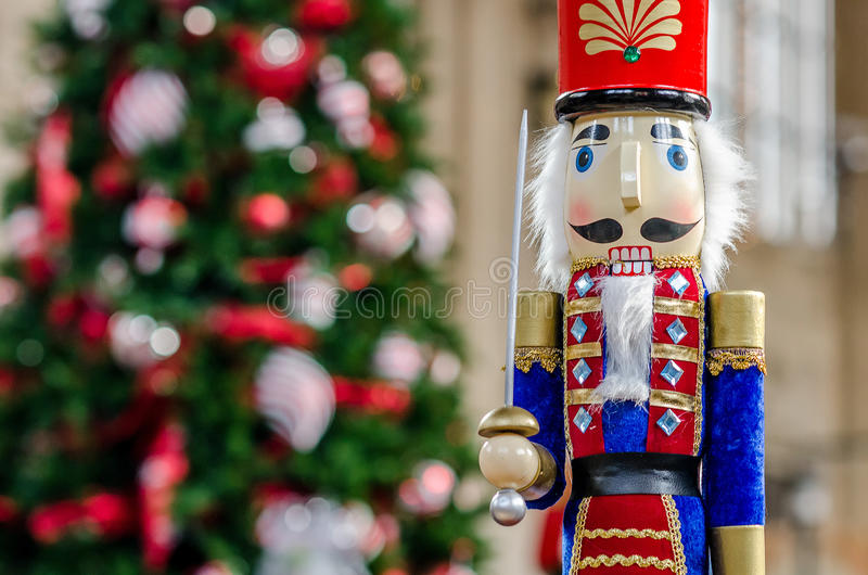 Weihnachtszeit Nussknacker stockbilder