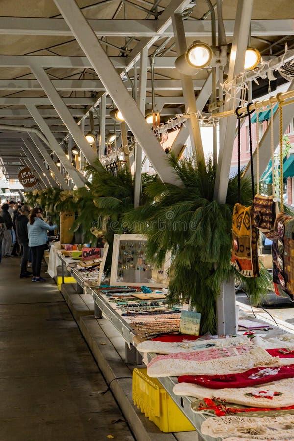 Weihnachtszeit am Roanoke-Landwirt-Markt stockbilder