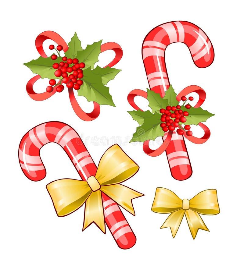 Weihnachtszuckerstange vektor abbildung