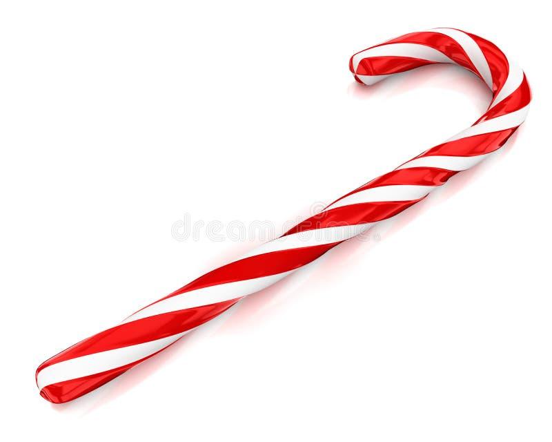 Weihnachtszuckerstange getrennt auf weißem Hintergrund vektor abbildung