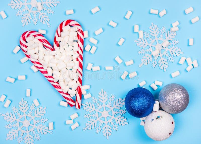 Weihnachtszuckerstangen stockfoto