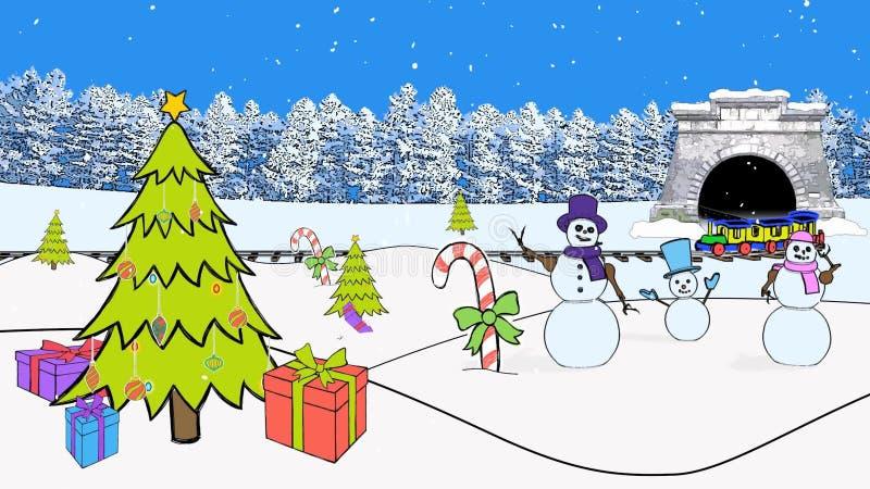 Weihnachtszug-frohe Weihnachten Stock Footage - Video von progressiv ...