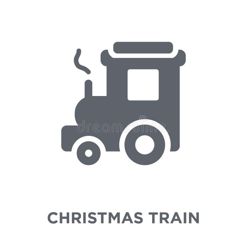 Weihnachtszugikone von der Weihnachtssammlung lizenzfreie abbildung