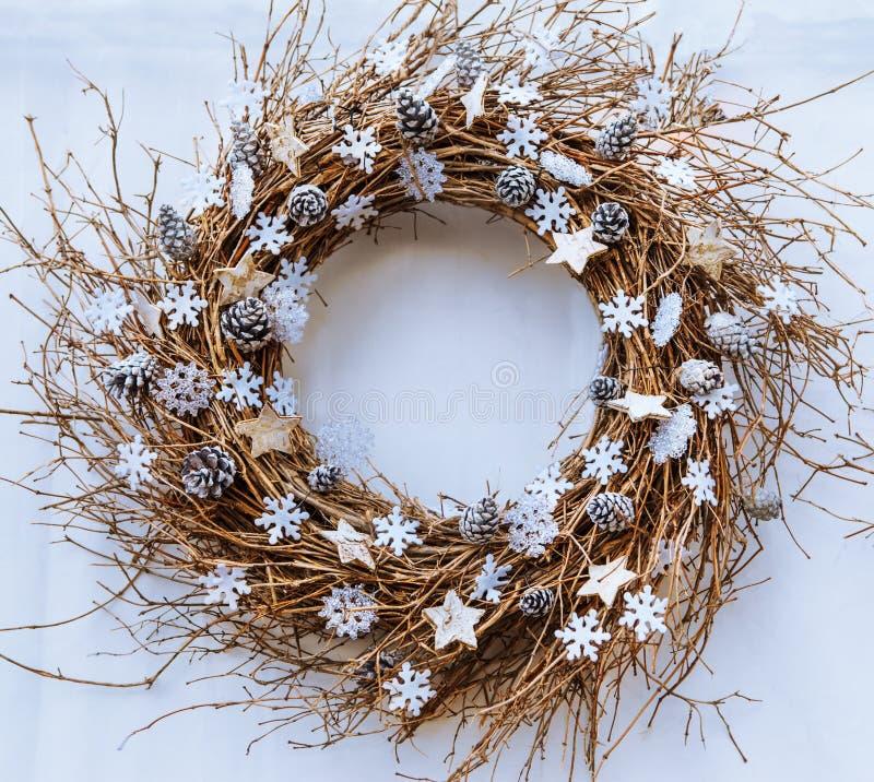 Weihnachtszweig Wreath lizenzfreies stockbild