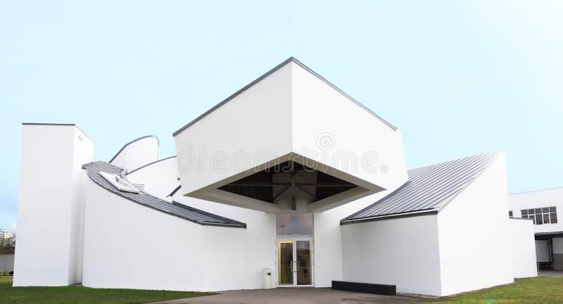 WEIL RENO, GERMANIA - 26 NOVEMBRE 2017: Costruzione del museo di progettazione di Vitra immagine stock libera da diritti
