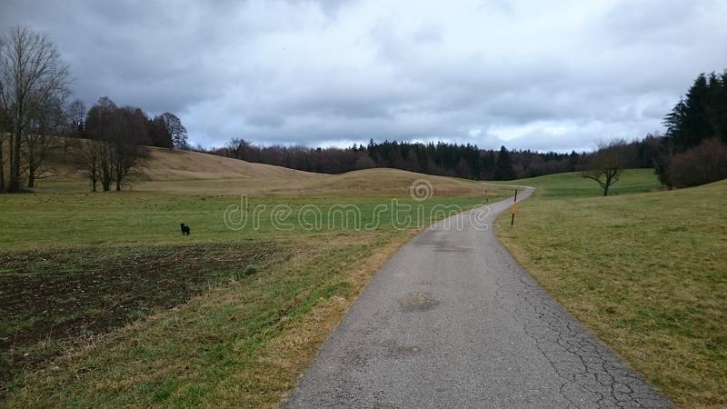 Weilheim-Hügel lizenzfreies stockfoto