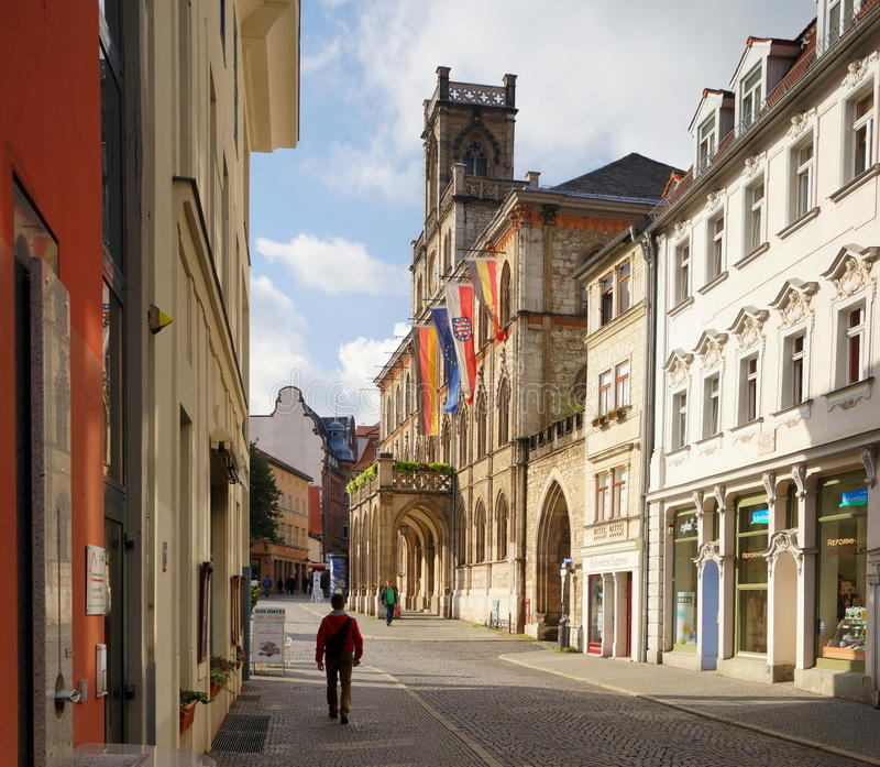 Weimar. The city of Weimar in the federal state of Thuringia, Germany, is well known for its rich cultural heritage and its importance in German history. Weimar royalty free stock photography