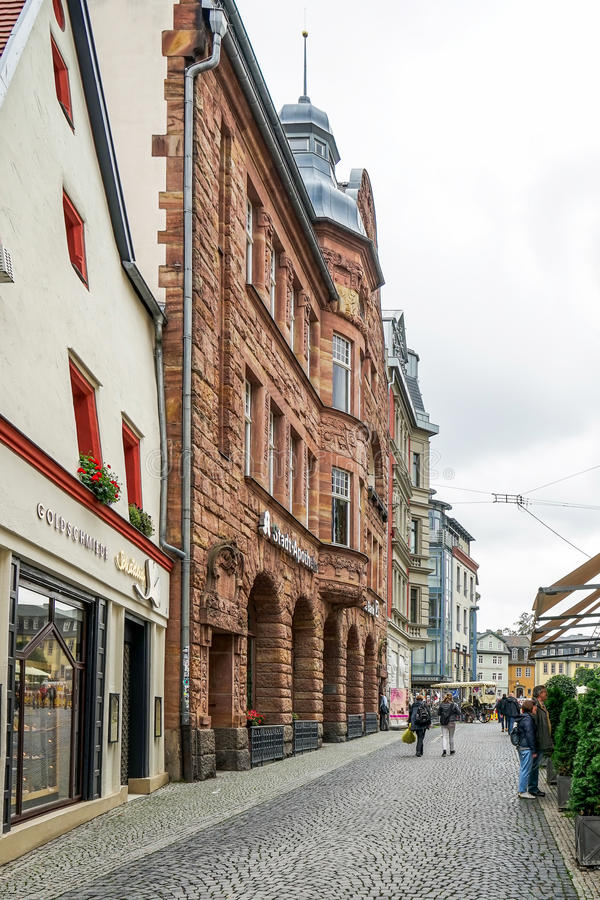 WEIMAR, GERMANY/EUROPE - 14 ΣΕΠΤΕΜΒΡΊΟΥ: Χαρακτηριστική σκηνή οδών μέσα στοκ φωτογραφία με δικαίωμα ελεύθερης χρήσης