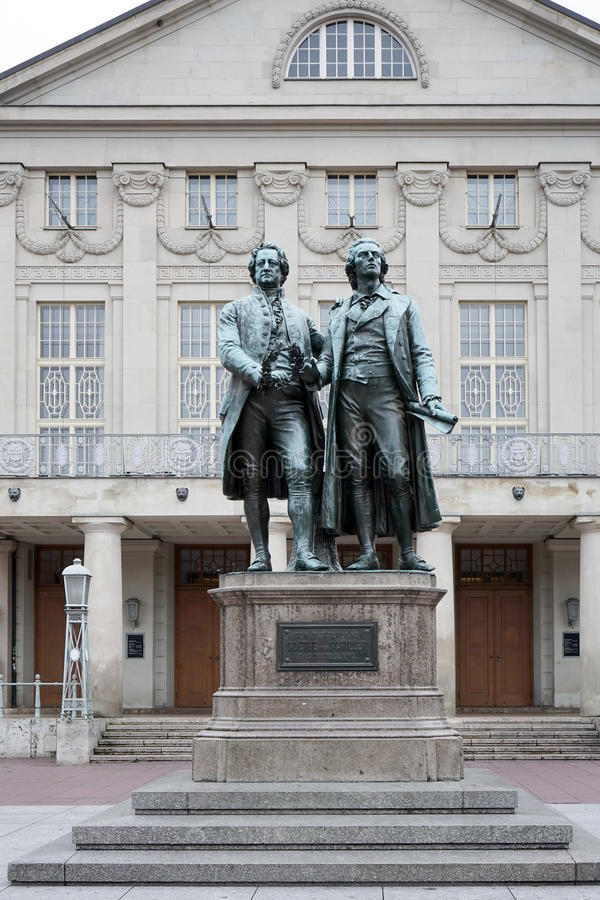 """WEIMAR, GERMANY/EUROPE - 14 DE SEPTIEMBRE: El Goethe†""""Schiller MES foto de archivo libre de regalías"""