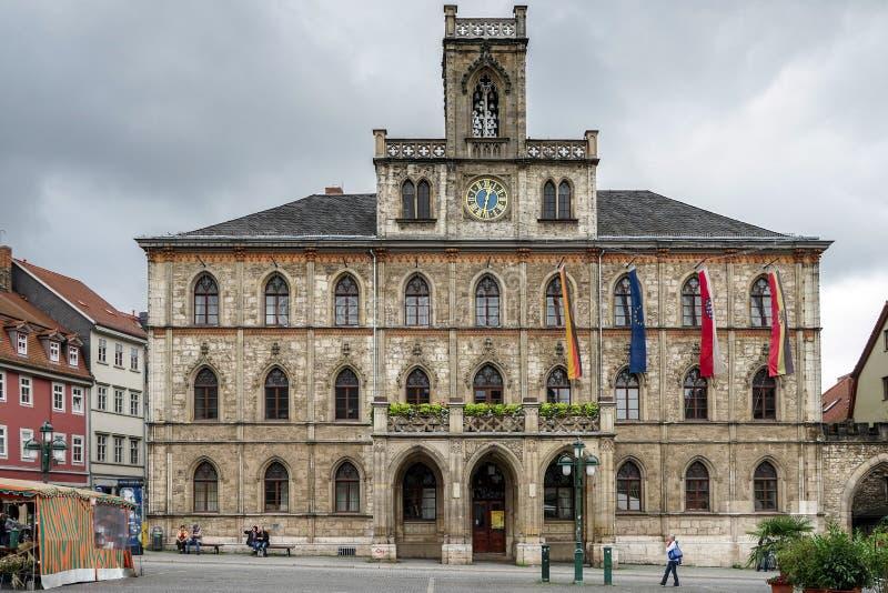 WEIMAR, GERMANY/EUROPE - 14. SEPTEMBER: Ansicht von Rathaus herein stockbilder