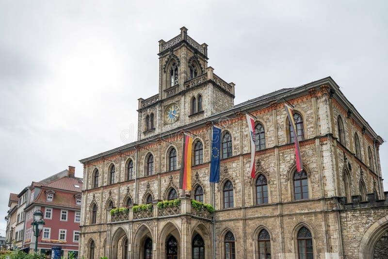 WEIMAR GERMANY/EUROPE - SEPTEMBER 14: Sikt av stadshuset in arkivfoton