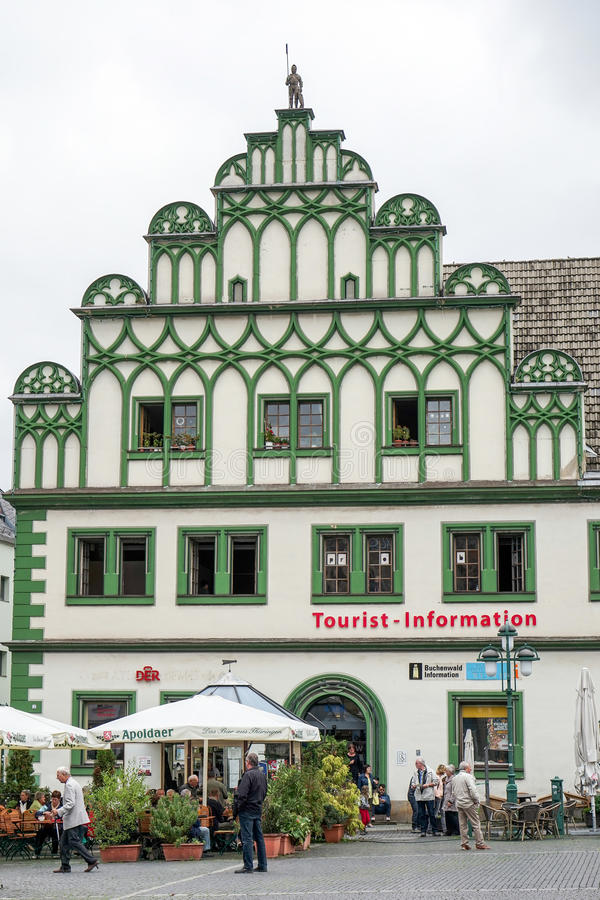WEIMAR GERMANY/EUROPE - SEPTEMBER 14: Turist- information Offi royaltyfri bild